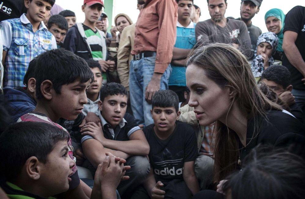 A lo largo de este año, la actriz ha visitado a refugiados del...