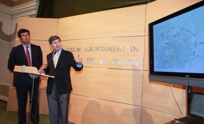 Enrique Gimeno y Alfonso Bataller, durante la presentación en el...