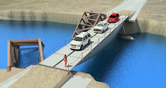 El puente hinchable más ligero del mundo es una de las últimas...