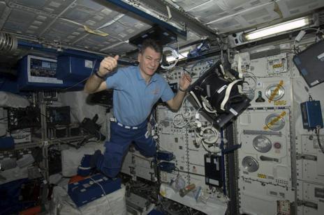 Nespoli, en la Estación Espacial.