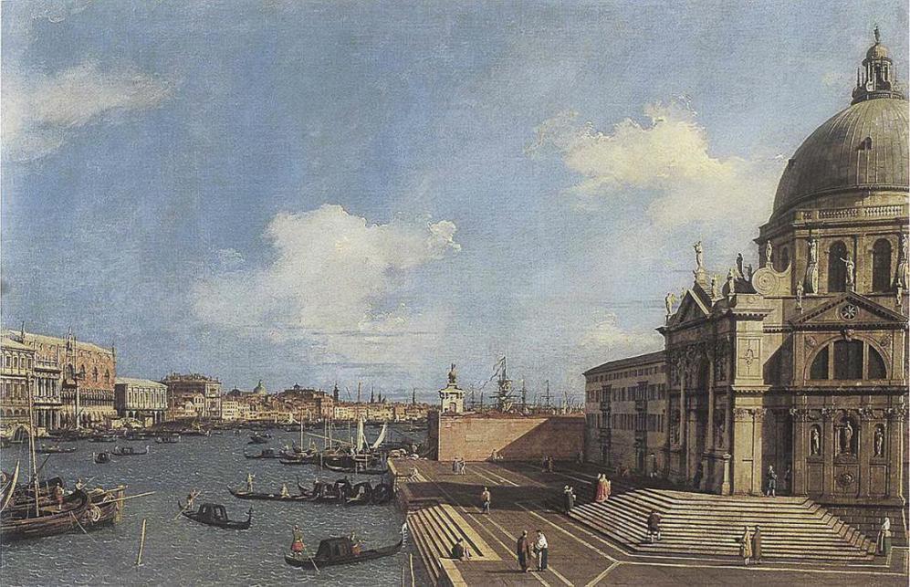 'Entrada en el Gran Canal desde la Basílica de Santa María de...