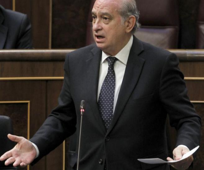 El ministro del Interior, Jorge Fernández. Díaz.