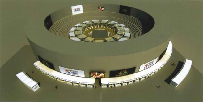 Recreación virtual de la Plaza de Toros de Valencia, donde se celabra...