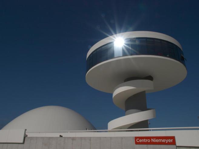 Imagen dl Centro Niemeyer, en Avilés, hoy cerrado.