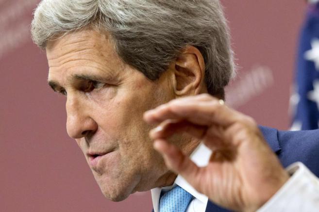 El secretario de Estado de los EEUU, John Kerry, durante su...