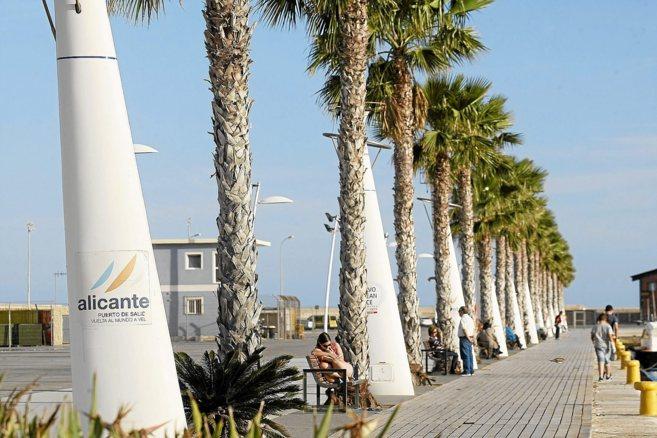 Zona del Puerto de Alicante donde está previsto que salgan los barcos...