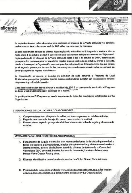 La carta que la organización está enviando a los comerciantes...