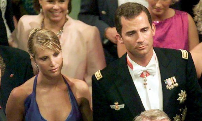 Eva Sannum y el Príncipe en la boda de Haakon y Mette Marit (2001)....
