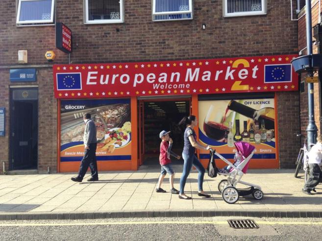 Un 'euromarket' en London Road en Boston (Lincolnshire)