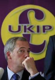 El líder del Ukip, Nick Farage