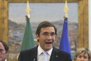 Pedro Passos Coelho dando un discurso