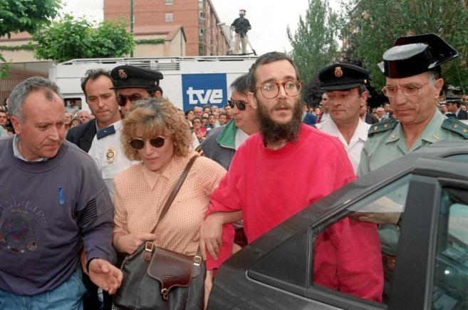 Ortega Lara, el día de su liberación, tras 532 días de secuestro.