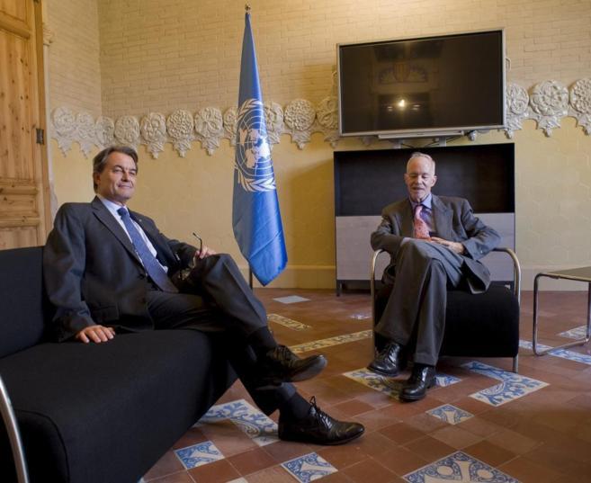 El presidente catalán, Artur Mas, en la presentación de la...