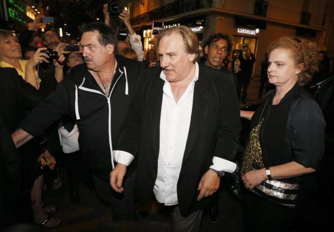 Gerard Depardieu, antes de la proyección de 'Welcome to New York' en...