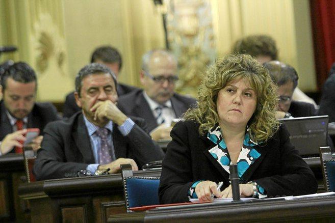La consellera Camps el pasado martes en el Parlament.
