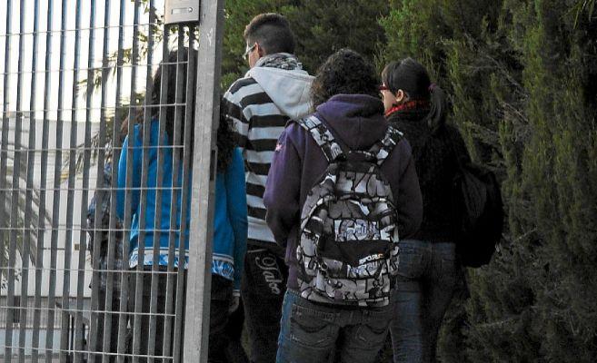 Alumnos de un instituto de la Zona Norte de Alicante.