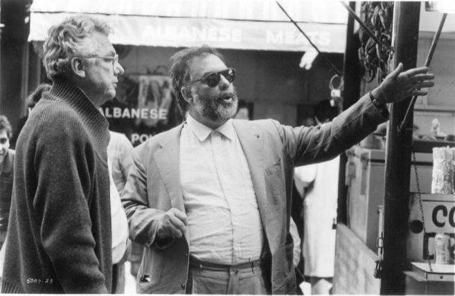 Coppola y Willis, durante el rodaje de 'El Padrino III'.