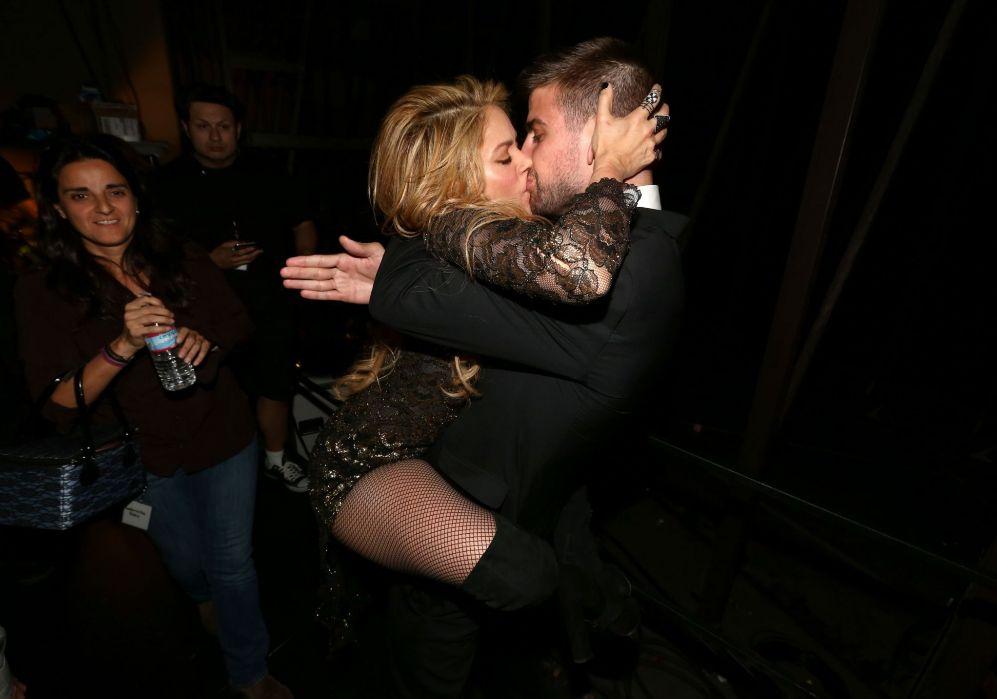 Shakira y Piqué, anoche en los premios Billboard.