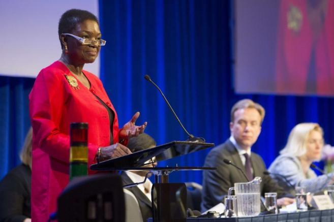 Valerie Amos, responsable de los asuntos humanitarios en la ONU,...