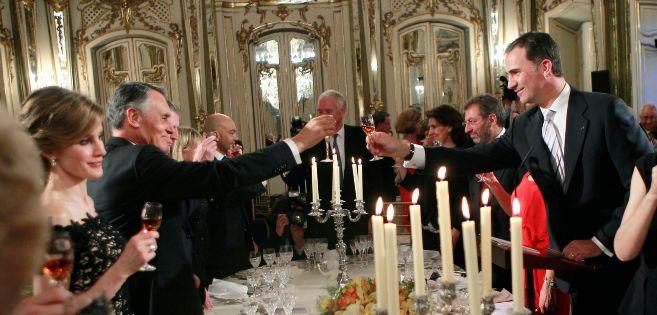 Imagen de archivo de una de las cenas de gala con los Príncipes de...