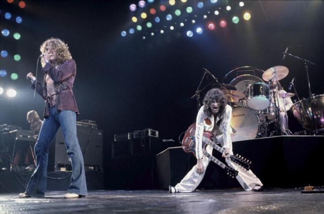Imagen de Led Zeppelin en uno de sus conciertos.
