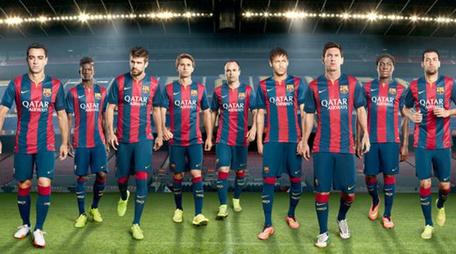 Azulgrana más oscuro en la nueva camiseta del Barcelona  250ae63e3253b