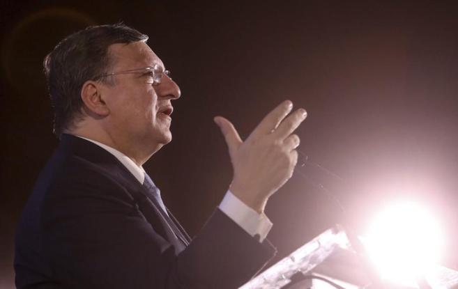 El presidente de la Comisión Europea, José Manuel Durão Barroso,...