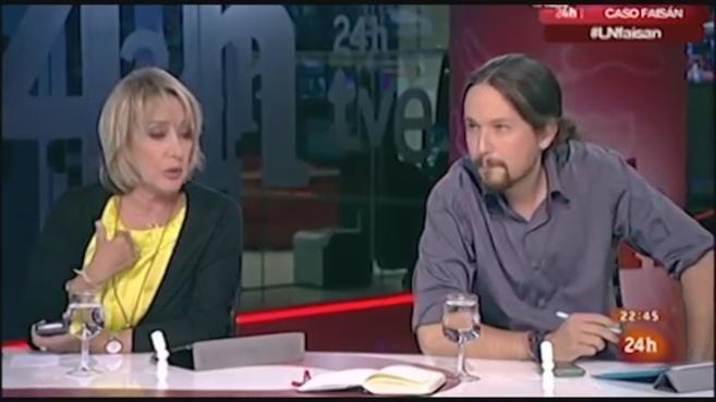 Pablo Iglesias en una tertulia de televisión.