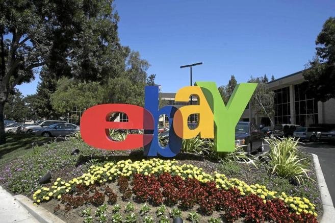 La entrada a la sede de la compañíaeBay, en San Jose, California.