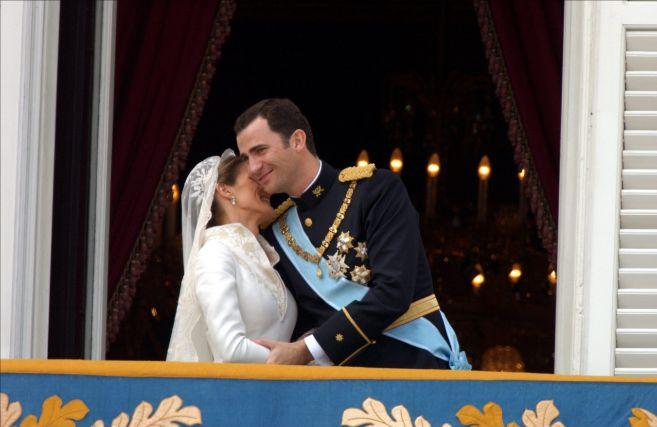 Los Príncipes de Asturias, el día de su boda.