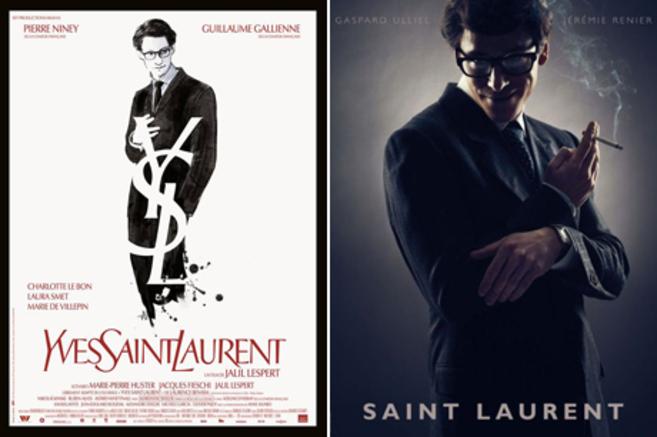 Izda,, cartel de 'Yves Saint Laurent', de Jalil Lespert....