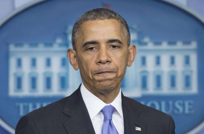 El presidente de EEUU, Barack Obama, durante una rueda de prensa en...