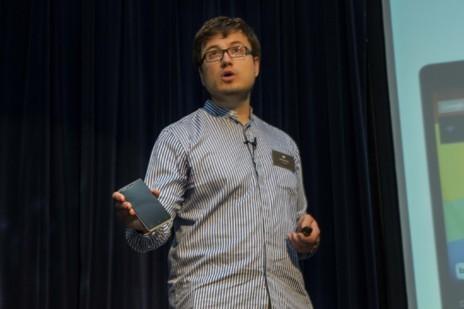 Alberto Méndez, presidente de Bq, durante la presentación.