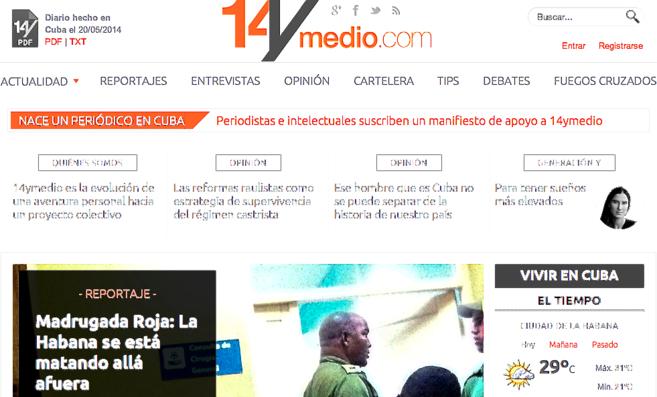Periódico lanzado por Yoani Sánchez.