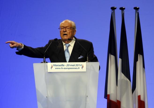 Jean-Marie Le Pen, durante su discurso en Marsella.