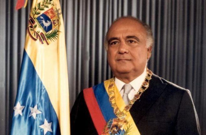 Jaime Lusinchi su toma de posesión el 2 de febrero de 1984