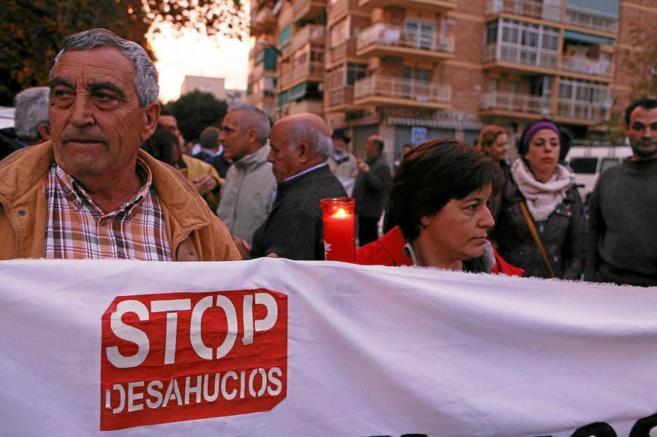 Imagen de archivo de una manifestación contra los desahucios en...