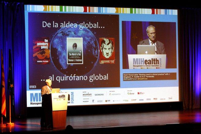 Un momento del Congreso MIHealth celebrado en Barcelona.