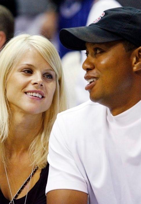 Elin Nordegren y Tiger Woods, en 2009.