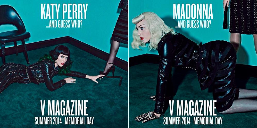 Tanto Katy Perry como Madonna calentaban motores con dos imágenes publicadas en sus respectivas cuentas de Instagram con las que anunciaban su participación en el próximo número de la revista en compañía de una segunda persona de la que solo revelaban algunas partes de su anatomía, pero en las que ya dejaban ver la estética de la sesión.
