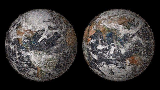 Imagen mosaico de la Tierra compuesta por más de 36.000...