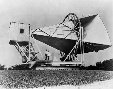 Antena de los Laboratorios Bell en Holmdel, Nueva Jersey.