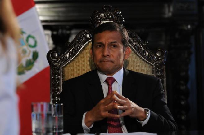 El presidente de Perú Ollanta Humala durante una entrevista.
