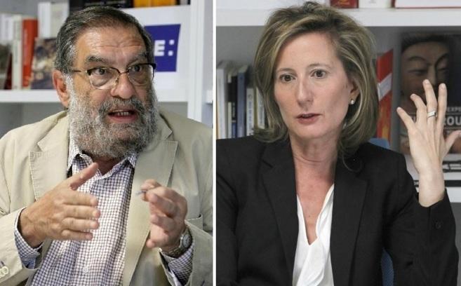 Los dos candidatos a presidir la Academia: Enrique González Macho y...
