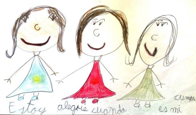 Dibujo realizado por Hanna, una niña de seis años.