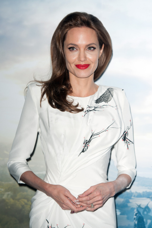 La actriz, durante la promoción de 'Maléfica'.