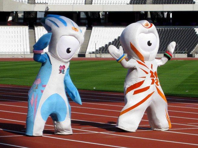 Wenlock y Mandeville, las mascotas oficiales de los Juegos Olímpicos...