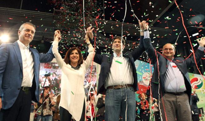 Iñigo Urkullu, Izaskun Bilbao, el candidato en Iparralde. Jean...