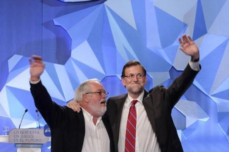 Miguel Arias Cañete y Mariano Rajoy