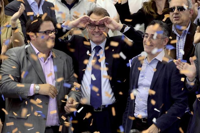 Artur Mas en el cierre de campaña de CiU